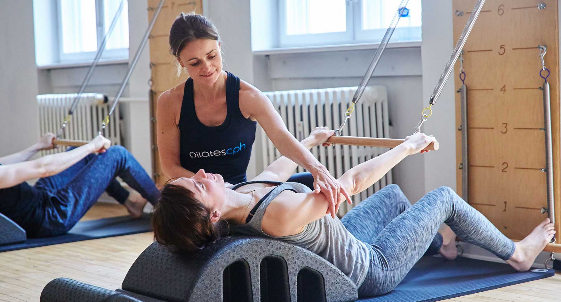 Classes with classic tower- and reformer pilates exercises